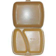 1000 X HP4/2 - Espuma de propósito general/Caja De Alimentos oro de poliestireno 2 compartimentos