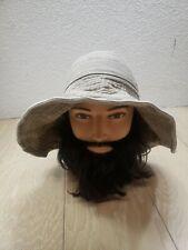 Coolibar Sun Hat Size XS / S Tan Wire Rim Bendable Edge Thick Cotton