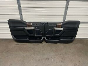2015-2020 FORD F150 F250 F350 BLACK CREW CAB FRONT DOOR PANELS 2017