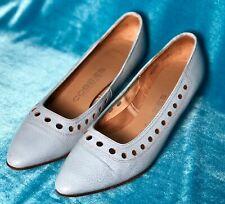 Cobbies Size 6 1/2 Aqua Cut Out Heels Pumps American Vintage Retro 1950s 1960s