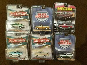 Lot of 6 Ford Trucks Greenlight 1/64