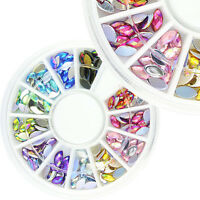 Wheel 3D AB Style Rhinestone Acrylic Crystal Nail Art Sticker Accessory Manicure