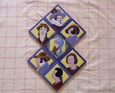 Seven Vintage 5 ½ Inch Triana Seville Spanish Character Portrait Ceramic Tiles
