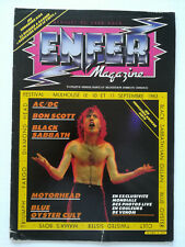 ENFER MAGAZINE n° 4 AC/DC Bon Scott Motorhead Black Sabbath hard rock metal 1983