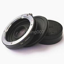 Pentax K PK Lens to Nikon F Camera Adapter Ring Infinity focus w/ Optical Glass