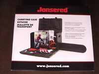 "Jonsered Universal chain saw carry case up to 20"" bar & xtra room   lowcost ship"