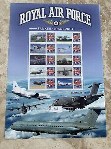 RAF TANKER TRANSPORT Ltd Edition Smilers Stamp Sheet Royal Air Force MNH