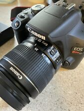 Canon EOS Rebel T7 24.1 MP DSLR Camera - Black with 18-55 Lens - 3 batteries