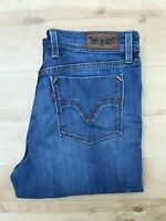 Women's Levi's Straight Leg Blue Jeans W29 L29 (#A599)