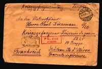 Germany 1917 POW Cover / HALLE CDS / Fold & Corner Creases - Z14407