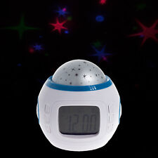 LED Digital LCD Wecker Uhr mit Projektion Sterne Sternenprojektor Sternenhimmel