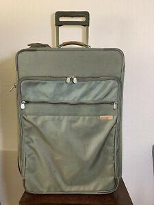"BRIGGS & RILEY 26"" Olive Wheeled Rolling Expandable Garment Luggage 05-U26NX"