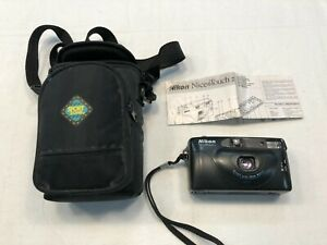 Vintage Nikon Nice Touch 2 Camera 35mm with Case & Instruction Manual