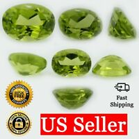 Loose Oval Cut Genuine Natural Peridot Stone Single Green Birthstone Shape