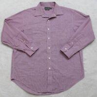 Ralph Lauren Dress Shirt Long Sleeve 16.5 32/33 Red Pocket Large Men's Man Top