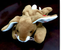 TY EARS The Rabbit Beanie Baby Rare & Retired With Tag Errors 1995 PVC Pellets