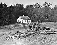 Historical Photograph Civil War Antietam Dunker Church Dead Soldiers 1862 8x10