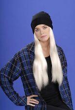 Long Blonde Grunge Wig & Cap Adult Unisex Mens Womens Hair Rocker Punk Costume