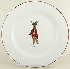 Rainbow Mountain Santa Dancer Reindeer Christmas Dessert Salad Plate Holiday