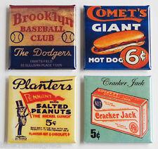 Brooklyn Dodgers FRIDGE MAGNET Set (1.5 x 1.5 inches each) baseball pennant