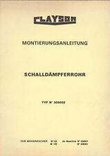 Montage Anleitung Mähdrescher Clayson M 133 135 Schalldämpfer