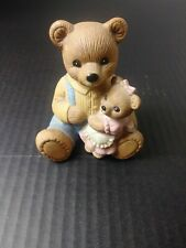 Homco Papa Bear With Daughter 1444 Vintage Figurine