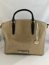 NWT BRAHMIN MEDIUM DUXBURY PHAROAH EMBOSSED LEATHER SATCHEL