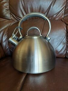 Kitchenaid brushed stainless steel cool handle whistling tea kettle 2 quart 012C