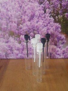 Parfumflaschen 10x Leerflasche Parfum 3 ml Probenfläschchen perfum test glass