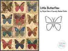 Little Butterflies Applique Quilt Pattern & Stencil ~ Edyta Sitar Laundry Basket