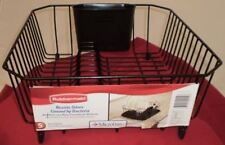RUBBERMAID SMALL TWIN SIZE SINK DISH DRAINER RACK BLACK 6008-AR