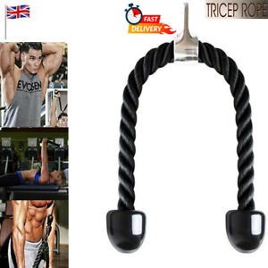 TRICEP ROPE Multi Gym Push Up Pull Press Down Attachment Cable Cord Bodybuilding