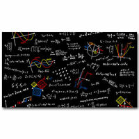 Art Mathematics Equations Science Education Wall Fabric Cloth Poster 848