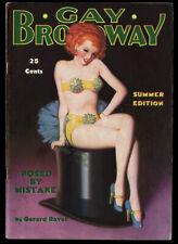 Hi-Grade Spicy Pulp Magazine Enoch Bolles Pin-up Cover Gay Broadway Summer 1936