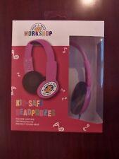 new Kid Safe Over-the-Ear Headphones Volume Limiting Build A Bear Workshop Pink