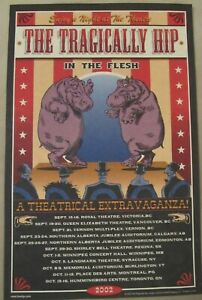 Tragically Hip 2002 Original In The Flesh Tour Poster Sam Roberts Band opener