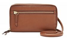 FOSSIL Raven Wallet Crossbody Brown