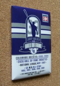 2020 Colorado Rockies Larry Walker Hall of Fame magnet metal backed MLB