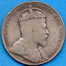 Canada 1907 50 Cents Fifty Cents Silver Coin - Very Good