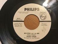"Bobby Hebb ""Ooh Lala""/ ""My Pretty Sunshine"" 45 PHILIPS Label...Soul/R&B VG++(EX)"