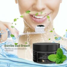 Activated Charcoal Grand Powder Teeth Whitening Natural Coconut Mint Based 113g