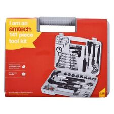 Amtech 141 Pieces DIY Tool Kit+Socket/Screwdriver/Hammer/Wrench/Pliers & Case