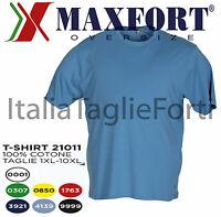 TAGLIE FORTI UOMO MAXFORT 21011 POLO T-SHIRT MAGLIA MANICA CORTA COTONE  XL XL