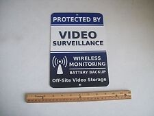 "Video Surveillance Security System 7"" x 10""  Metal Yard Sign - Stock # 718"