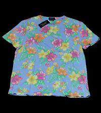 Polo Ralph Lauren Shirt T-Shirt SSCNCMSLM2 Baumwolle blau Blumen Größe M und L