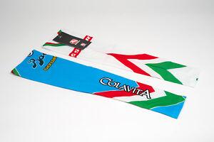 New Giordana Colavita Pro Cycling Arm Warmers, White/Teal, Size XL