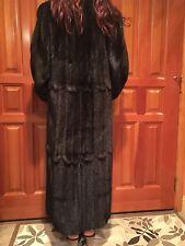 Ranch Mink, Natural Mahogany Female Coat - Full Length Size M