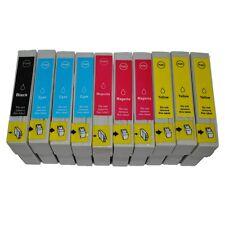 10 Druckerpatronen für Epson Stylus D78 DX9400F SX200 SX200W SX205 SX210 SX218.