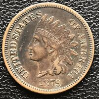 1879 Indian Head Cent One Penny 1c Rare High Grade XF + #18191