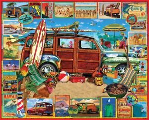 Jigsaw puzzle Vehicle Sports Ford Surfing Woody 1000 Piece NEW Made in USA